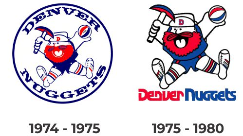 Denver Nuggets retro logo with Maxie Miner