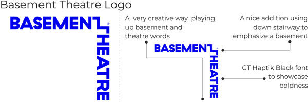 Basement Theatre logo key points
