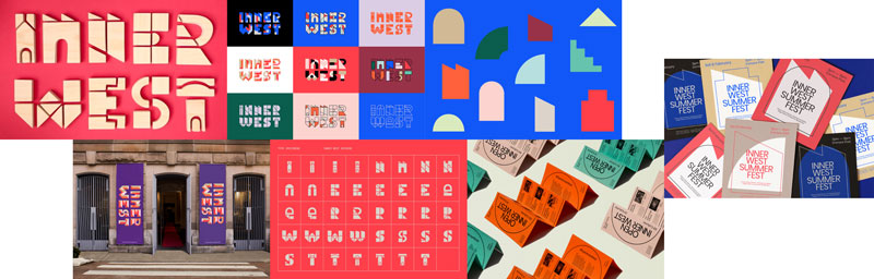 Inner West brand identity applications