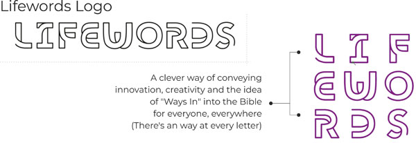 Lifewords logo key points