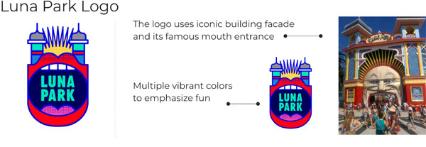 Luna Park logo key points